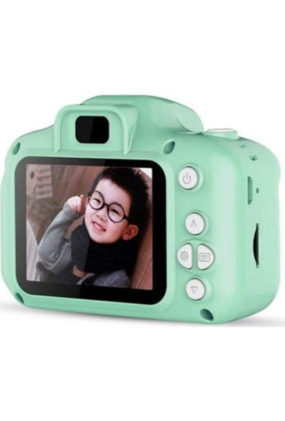 Thorqtech Cmr9 Çocuklar İçin Hafıza Kartlı Dijital Kamera Mini HD 1080p Fotoğraf Makinesi Yeşil