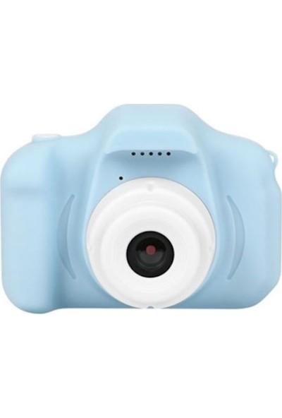 Thorqtech Cmr9 Çocuklar İçin Hafıza Kartlı Dijital Kamera Mini HD 1080p Fotoğraf Makinesi Mavi