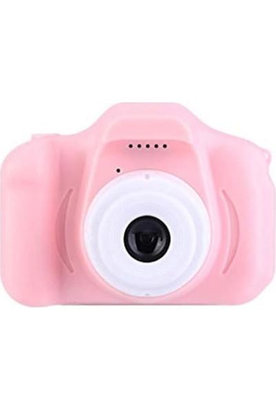 Thorqtech Cmr9 Çocuklar İçin Hafıza Kartlı Dijital Kamera Mini HD 1080p Fotoğraf Makinesi Pembe