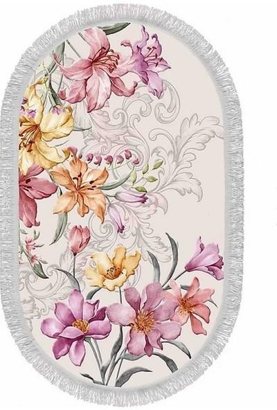 Seroni Home Textile Sempati Zambak Ince Saçaklı 50x80 Paspas