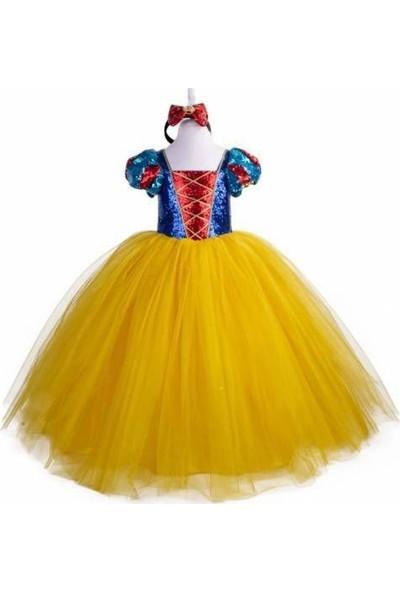 Mashokids Tarlatanlı Pamuk Prenses Kostümü Pelerinli Taçlı