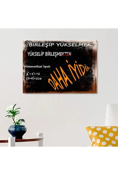 Ferman Hediyelik Birleşmek Temalı Ahşap Retro Poster 17,5 x 27,5 cm