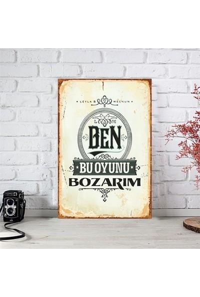 Ferman Hediyelik Leyla Ile Mecnun Ahşap Retro Poster 17,5 x 27,5 cm