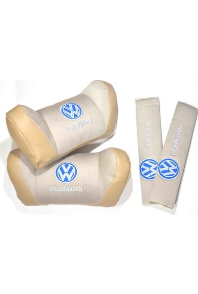 Trend Garaj Volkswagen Bej Boyun Yastık Seti