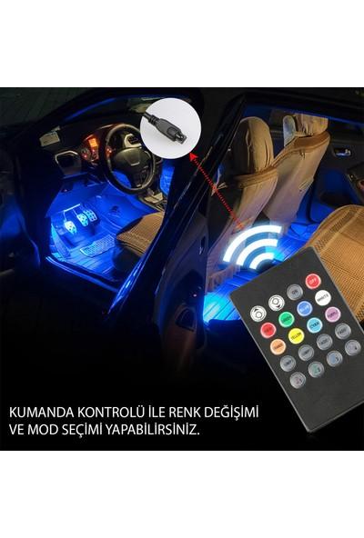 Superlight Ayak Altı 9 LED Araç Içi Sese Duyarlı Rgb LED Kumandalı