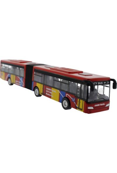 Mega Çek Bırak Kırmızı Metal Körüklü Otobüs 632-31
