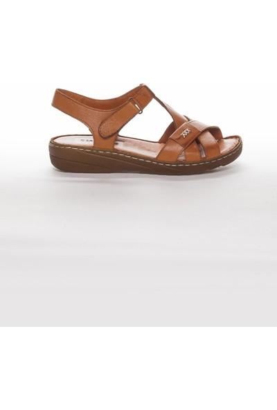 Deripabuc Hakiki Deri Taba Kadın Deri Sandalet Dp05-0223