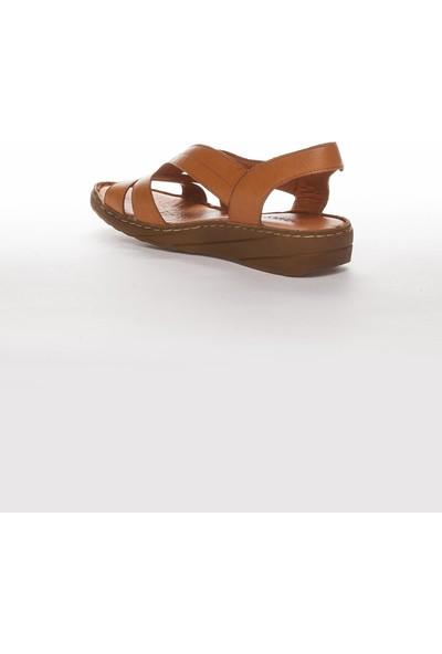 Deripabuc Hakiki Deri Taba Kadın Deri Sandalet Dp05-0234