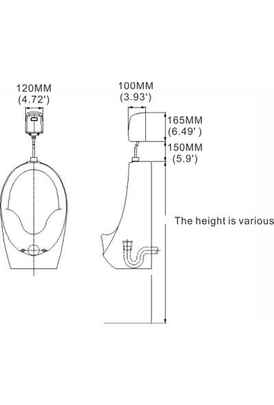 """Mannesmann Auto-Spout 1/2"""" Fotoselli Sıva Üstü Pisuar Musluğu"""