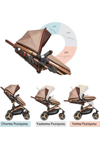 Joell Truva Travel Sistem Bebek Arabası - Gold Kahve