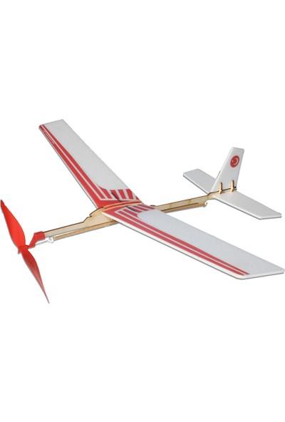 Hobi Modelci Lastik Motorlu Maket Uçak Martı