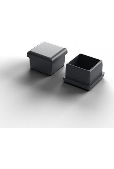 Adem Koç Plastik Iç Plastik Tapa Profil Ayak Tapası Siyah 40 x 40 mm 20'li