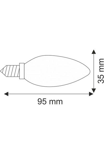 Helios 4W Rustik Çizgili Mum Günışığı LED Ampül