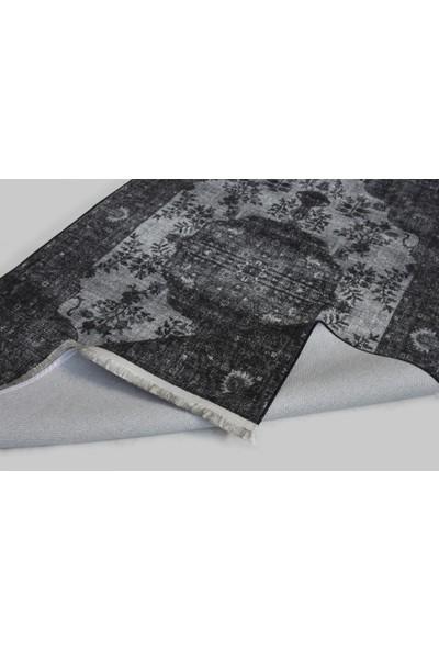 Halı Special Siyah Gri Yıkanabilir Modern Kilim 77 x 150 cm