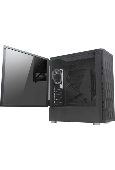 Rampage X-Horse 600W 80 Plus 4 x Rainbow Fan USB 3.0 Siyah Oyuncu Kasası