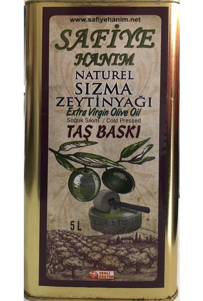 Safiye Hanım Taş Değirmen Sızma Zeytinyağı 5 Lt