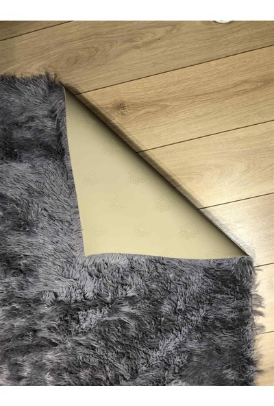 Bee Tavşan Post Halı Patchwork Gri Batik 120 x 180 cm