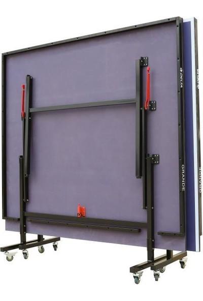 Delta Grande 18 mm Masa Tenisi Masası + Ağ - Demir + 2 Raket 3 Top