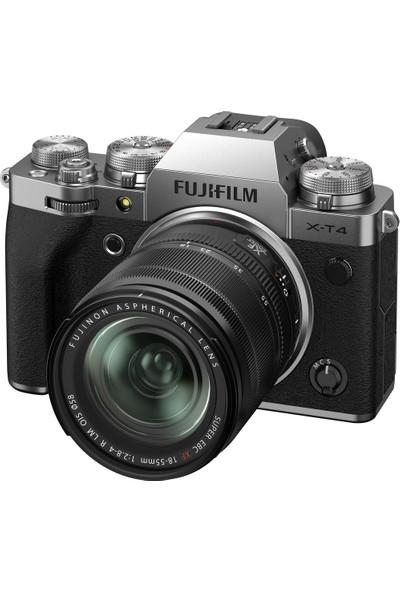Fujifilm X-T4 Gümüş + Xf 18-55 mm Lens Kit