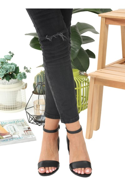 Cudo Denver Siyah Topuklu Ayakkabı