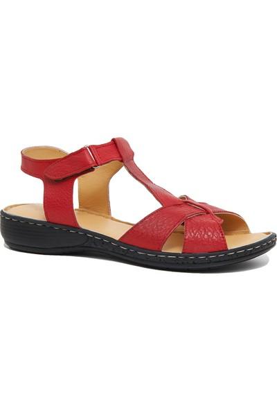 Desa Pietra Kadın Deri Sandalet