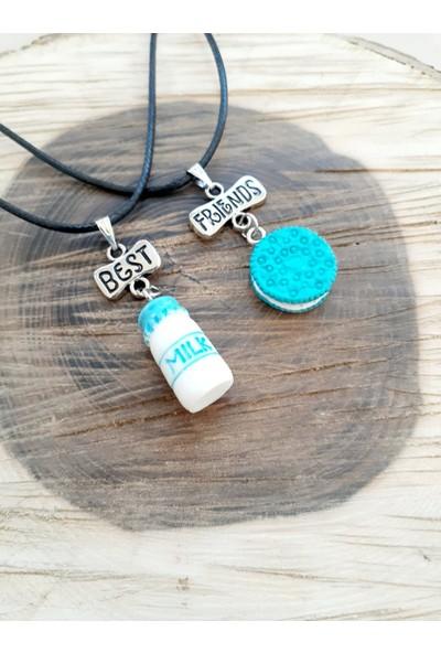 Cihan Best Friends Mavi Süt ve Oreo Figürlü Arkadaşlık Kolyesi