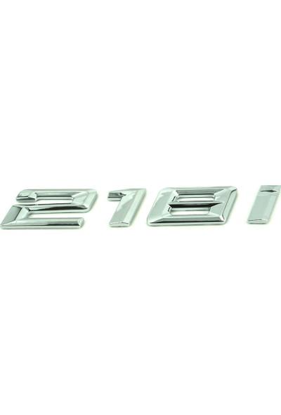 Bmw Depo Bmw 218I 3D Yazı Logo