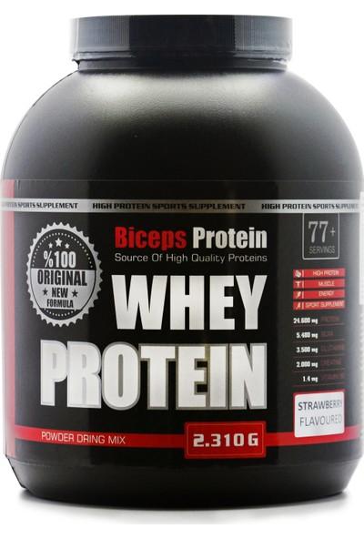 Biceps Whey Protein 2310 Gram Çilek Aromalı 77 Servis