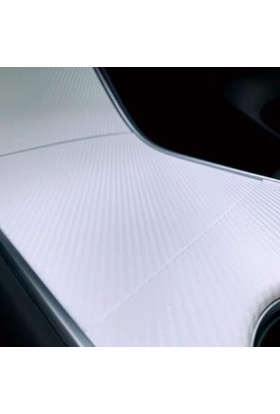 Otografik Beyaz Karbon Kaplama Folyo Hava Kanallı