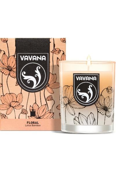 Vavana 2'li Ev Oda Kokusu Seti - Kokulu Mum + Çubuklu Oda Kokusu - Lotus Bamboo