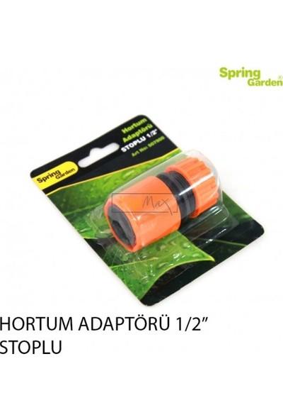"""Spring Garden Stoplu Hortum Adaptörü 1/2"""""""