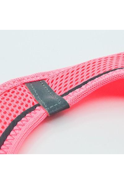Tailpetz Airmesh Neon-Pembe Göğüs Tasması 2XS