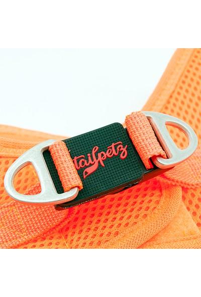 Tailpetz Airmesh Neon-Turuncu Göğüs Tasması S