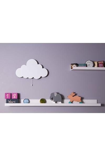 Om Oyuncak Bebek Odası Dekoratif Beyaz Bulut Aydınlatma
