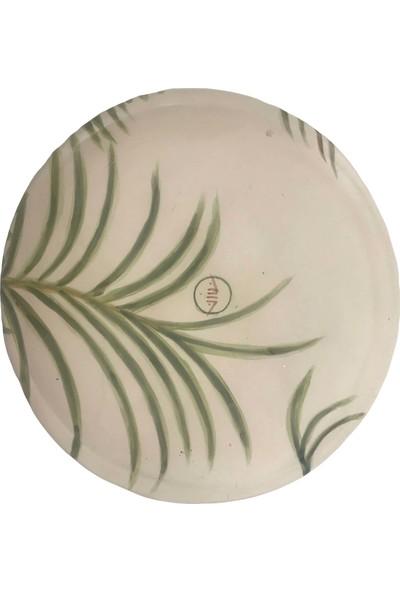 Alla Ceramics Şişe Palmiyesi Büyük Düz Servis Tabağı