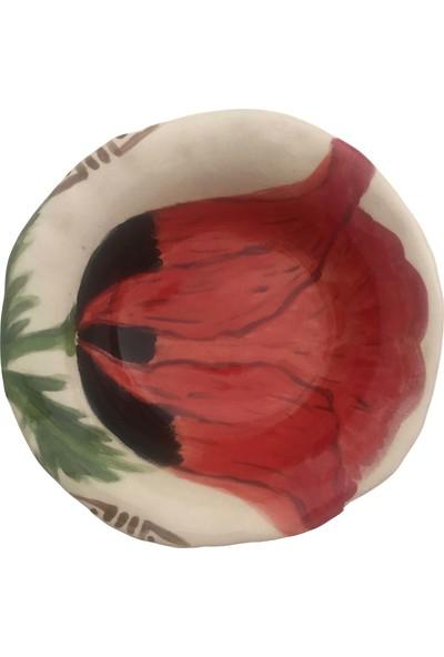 Alla Ceramics Gelincik Küçük Çukur Servis Tabağı