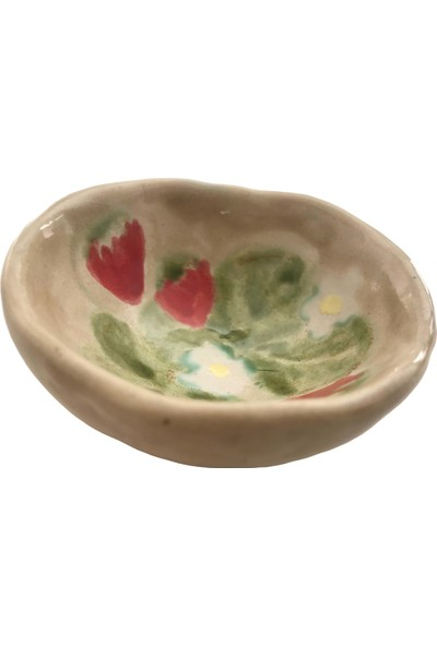 Alla Ceramics Çilekli Mini Kase Servis Tabağı