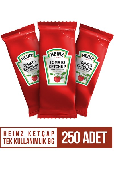 Heinz Ketçap Tek Kullanımlık 9 gr 250 Adet