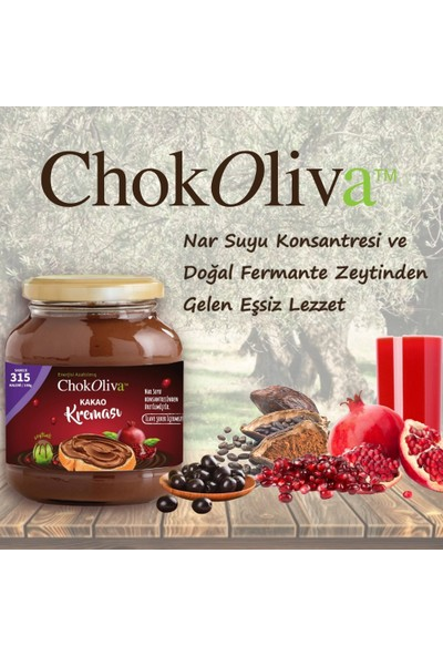 Chokoliva Zeytinli Kakao Kreması 350 gr