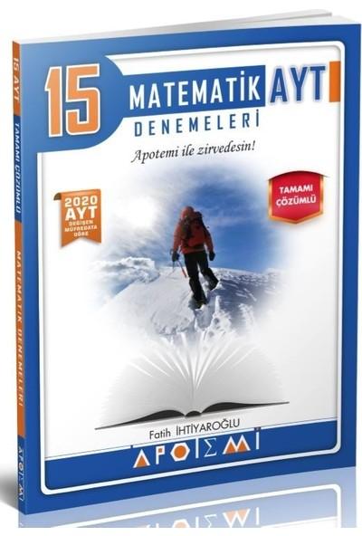 Apotemi Yayınları AYT Matematik Özel 15'li Denemeleri