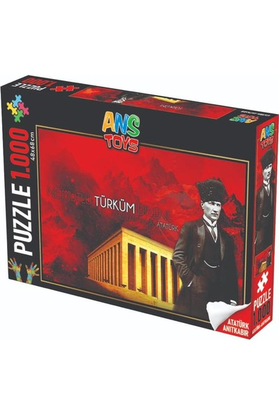 Ans Atatürk ve Anıtkabir Görsel 1000 Parça Puzzle