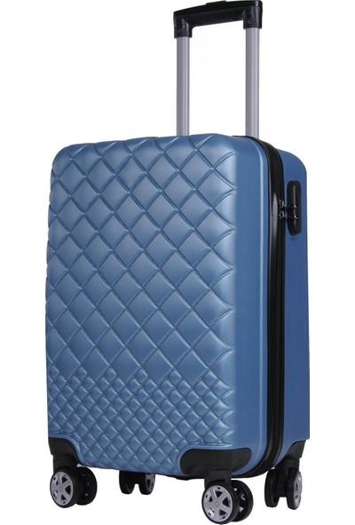 Kabin Boy Polikarbon Valiz 8 Teker Mavi 1468