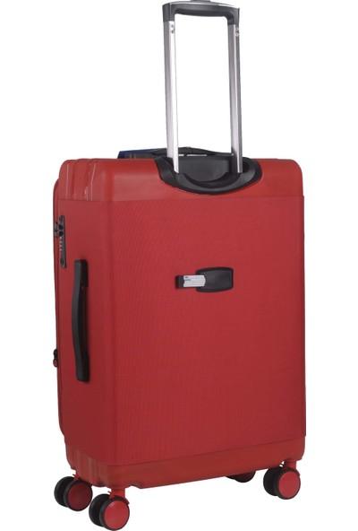 C.A.P Polo Hybrid 3'lü Set Valiz Seti 8 Tekerlek Kırmızı 126