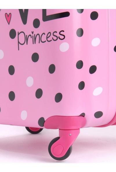Mçs Çocuk Abs Valiz Love Princess Pembe V307