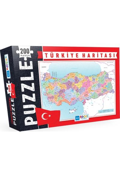 Blue Focus Türkiye Haritasi 204 Parça Kutulu Puzzle (Bf049)