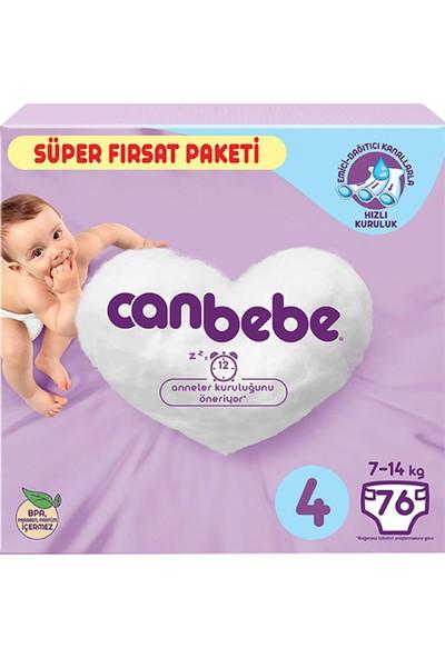Canbebe Bebek Bezi Paketi No:4 7-14 kg 76'lı
