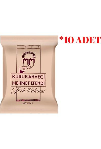 Kuru Kahveci Mehmet EfendiTürk Kahvesi 100 gr 10'lu
