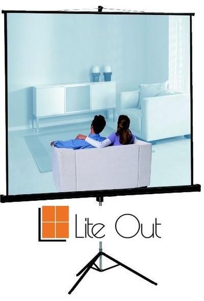 LiteOut LO150T 150x150cm Tripod Ayaklı Projeksiyon Perdesi