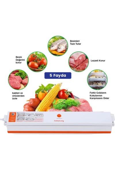 Xinbaolong Ev Tipi Elektrikli Gıda Vakumlama Makinesi + 15 Adet Poşet
