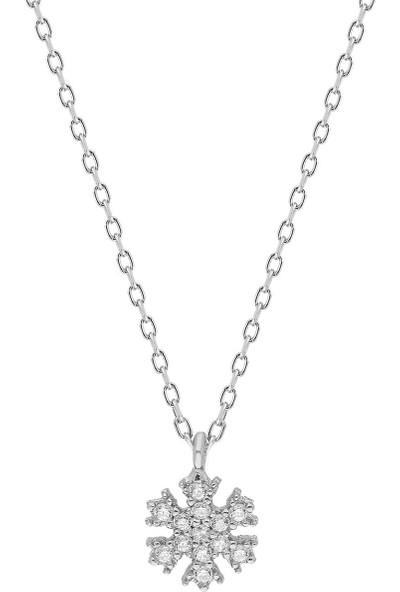 Luxilver Kar Tanesi Zirkon Taşlı Gümüş Kolye